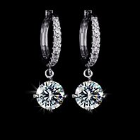 Swiss CZ Swarovski Elements Dangle Earrings