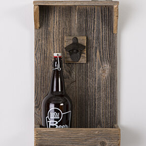 Large reclaimed wood bottle opener