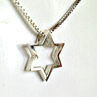 Star of David Necklace Pendant | Sterling Silver | Contemporary Design | (N475) | Handcrafted by Heartwear Designs