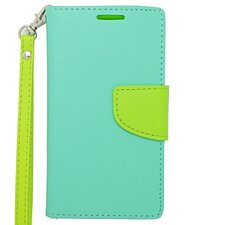 Zizo Flap Pouch Wallet Nokia Lumia 635 / 630 Case - Mint/Neon Green