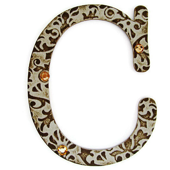 Buy chipboard letter c 4 inch embossed letter initials for Where to buy chipboard letters