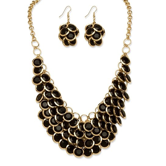 black and gold necklace fashion jewelry black gold