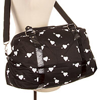 Women's Heart Print Duffel Bag Black