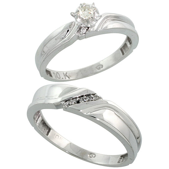 wedding ring sets for him and her white gold wedding ring sets for him and white gold 9992